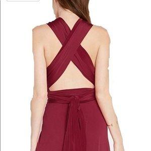 Mai tai multiways formal cocktail halter dress M